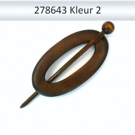 Shawl Pin hout ovaal 278643 (donker)