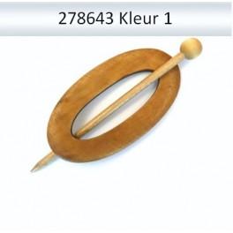 Shawl Pin hout ovaal 278643 (licht)