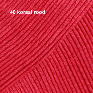 Muskat 40 koraal rood