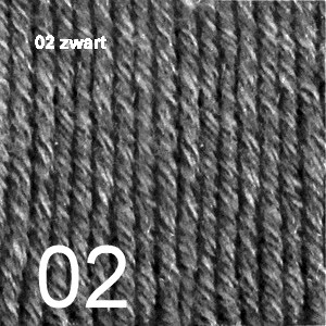 Cotton Merino 02 zwart