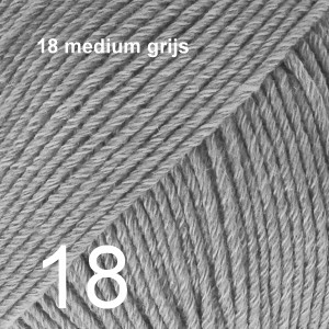 Cotton Merino 18 medium grijs