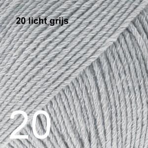 Cotton Merino 20 licht grijs