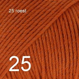 Cotton Merino 25 roest