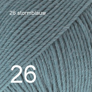 Cotton Merino 26 stormblauw