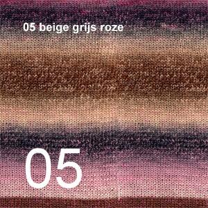Delight 05 beige grijs roze