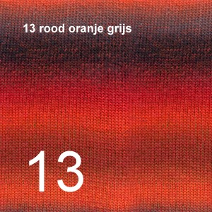 Delight 13 rood oranje grijs