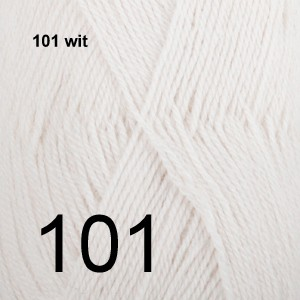 Alpaca Uni Colour 101 wit