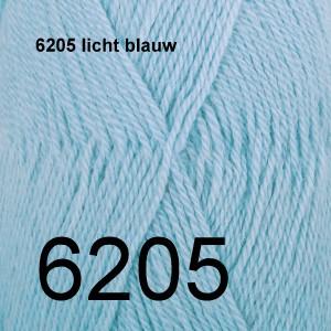 Alpaca Uni Colour 6205 licht blauw