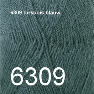 Alpaca Uni Colour 6309 turkoois blauw