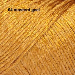Cotton Viscose 04 mosterd geel