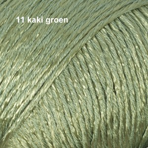 Cotton Viscose 11 kaki groen