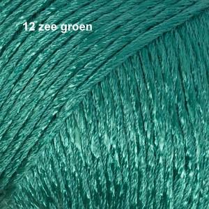 Cotton Viscose 12 zee groen