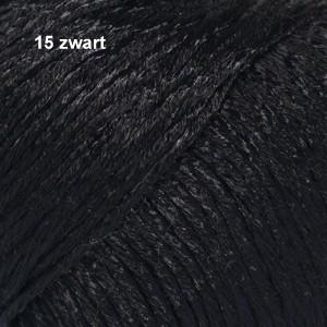 Cotton Viscose 15 zwart