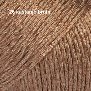 Cotton Viscose 26 kastanje bruin
