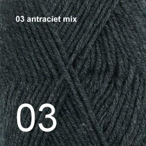 Merino Extra Fine 03 antraciet mix