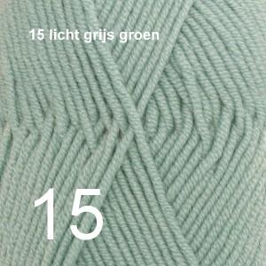 Merino Extra Fine 15 licht grijs groen